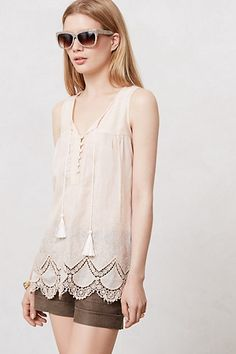 Roseblush Tunic #anthropologie  Now we're talking. A tunic that makes you look sexy, not just loosely covered up.