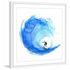 Most Popular Wave Framed Painting Print, Multicolor