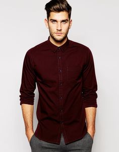 Image 1 of New Look Long Sleeve Oxford Shirt