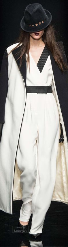 Emanuel Ungaro.Fall 2015. women fashion outfit clothing style apparel @roressclothes closet ideas
