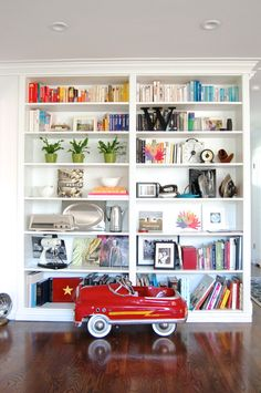 Styled shelves. Check out the whole Living With Kids Home Tour featuring Michelle Turchini.