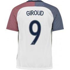 172600295e295 Maillot Equipe de France GIROUD 2016/2017 Officiel EURO 2016 Extérieur.  Flocages Personnalisés Disponibles