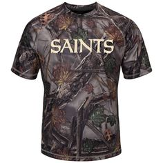 New+Orleans+Saints+The+Woods+Men's+Synthetic+Tee+by+Majestic
