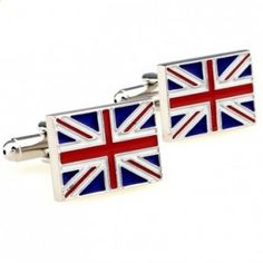 There is nothing sexier than a man who shows devotion to his country. The UK Stainless symbolizes one's love for Britannia and the United Kingdom while exuding great style. | Mens Cufflinks - Cufflinks for Men  #howmendress #menswear #mensfashion