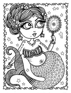 The Chubby Mermaid Coloring Book For Lovers Not Your Mamas Spiral Bound