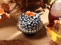 Bones Cake  Beautiful Black Cake Decorated for by ParisMiniatures