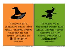 Shadows of a thousand years quote. Free 5x7 printable Halloween decor. #free #printable #quote #Halloween