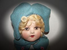 GORGEOUS ANTIQUE COMPOSITION LENCI TYPE DOLL IN ORIG CLOTHING CIRCA 1930'S