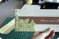 Japanese Stab Binding  :  wedding crafts diy stationery tutorial Pict001 pict0015-3