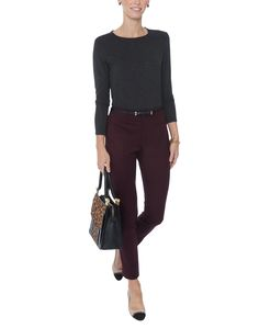 Majestic's luxurious t-shirts continue to be a seasonless favorite. Crafted from a stretchy lightweight modal fabric, this deep charcoal tee is a must-have wardrobe staple to wear season after season. the styling options for this versatile top are endless. Wear it with jeans or tucked into a slim pencil skirt for an effortless approach to modern dressing.