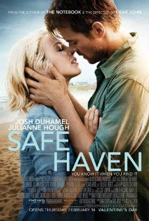 "The film adaptation of ""Safe Haven,"" a Nicholas Sparks novel, was filmed in Southport and is set to release in February It stars Julianne Hough and Josh Duhamel. So excited for another Nicholas sparks book to become a movie! See Movie, Movie Tv, Crazy Movie, Safe Haven Book, Book Safe, Safe Haven Film, Film Romance, Drama Film, Drama Movies"