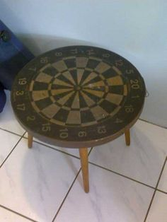Vintage Dart Board Table
