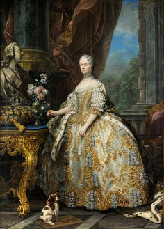 'Marie Leszczinska, Queen of France (1703-1768)' 1747 by Charles-André van Loo by Plum leaves, via Flickr