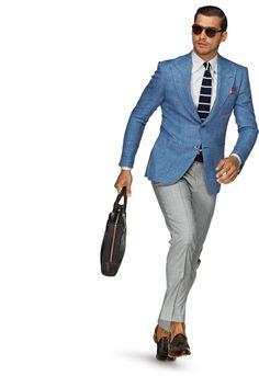 Sakko Hellblau Unifarben Washington Half C553 | Suitsupply Online Store