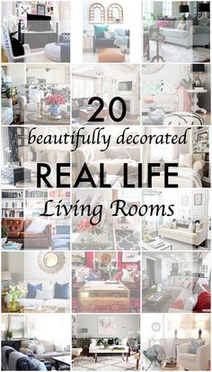 20 Beautifully Decorated Real Life Living Rooms