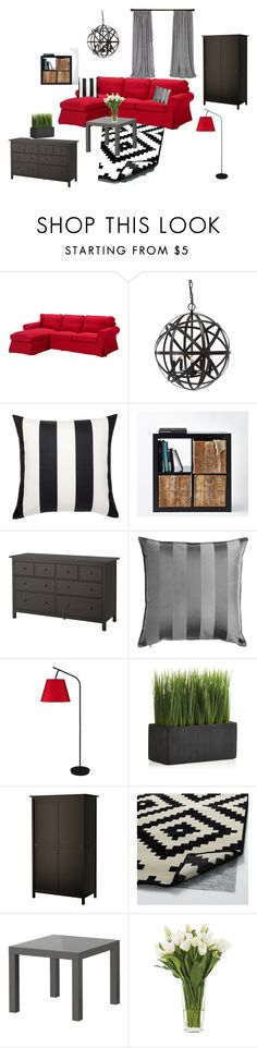 """""""Just Ikea"""" by irenerusse on Polyvore featuring interior, interiors, interior design, дом, home decor, interior decorating, Lights Up!, Crate and Barrel и NDI"""