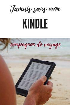 Voyager sans mon Kindle... impensable! Il est juste pratique en tout temps partout où je vais. #voyage #Kindle #Essentiels #Lecture Kindle, Lettering, Travel, Travel Essentials, Custom In, Reading, Voyage, Viajes, Traveling