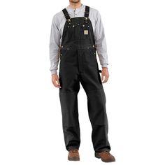 Carhartt Duck Bib Overalls (For Men) in Black
