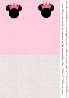 Cuarta parte de Minnie Princesa: etiquetas, imágenes y fondos para imprimir gratis.