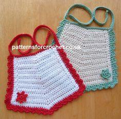 pfc250-Pointed Bib Baby Crochet Pattern | Craftsy