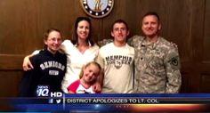 Video: Army Dad denied entrance to school