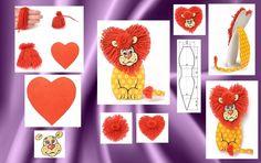 Детские поделки своими руками: львенок из ниток фото 1