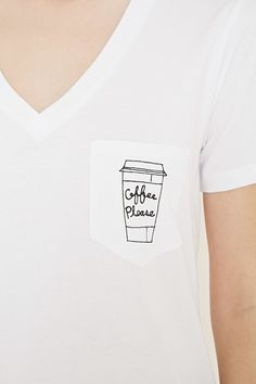 Coffee Graphic Pocket Tee | Forever 21 - 2000169869