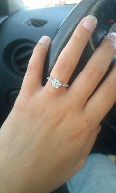 solitaire 1 ct engagement ring, so simple and yet so beautiful! the perfect size