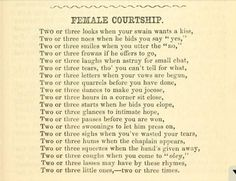 Female courtship From The railway book of fun by Brisk, Richard
