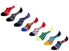 No Show Socks Value Pack by Unsimply Stitched fun colorful designs Combed Cotton Nylon Spandex Shark Socks, Mens Novelty Socks, No Show Socks, Nike Logo, Kangaroo, Your Style, Stitch, Cotton, Fun