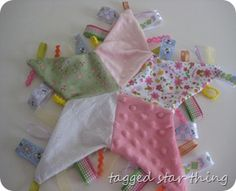 For the princess  @Sarah Chintomby Chintomby Chintomby Chintomby Schafer  a good idea for tag blankets