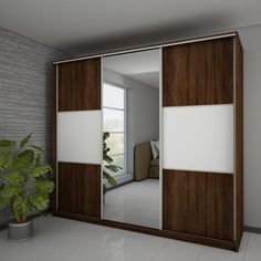 "Modern Wardrobe ''Rico'' 3 slide door LC x x High Quality Wardrobe ''Rico'' L 220 C Wardrobe ""Rico"" is a 3 door sliding wardrobe which includes Cupboard Design, Wardrobe Design Bedroom, House Interior, Bedroom Bed Design, Bed Design, Home, Bedroom Design, Home Decor, Furniture Design"