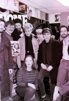 ♫'''Facebook of 96.5 WCMF Ladies & Gents...for #TBT, please welcome...The Stray Cats (c.1980-something) l to r: Howard Lesnick (record guy) Trip Reeb, (WCMF Program Director) Kane O, STRAY CATS Brian Setzer, Lee Rocker, Slim Jim Phantom, Afternoon Jock Mike Rockwell (a.k.a. Simon Jeffries), and Evening Host, Candi Clarke. – avec Trip Reeb, Candi Clarke et Mike Rockwell...☺...'''♫ https://www.facebook.com/965WCMF/photos/pb.84453107093.-2207520000.1407017371./10152614517152094/?type=3&theater