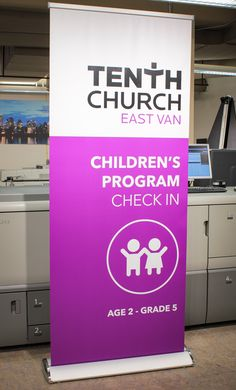 Retractable banner installed to premium hardware @tenthchurch.