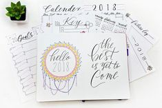 Say hello to the new year with Sheena of the Journal's 2018 Bullet Journal Starter Pack. With this 12-page Starter Pack, you can track long-term goals, see your year at a glance, and get ready to kill it in 2018.