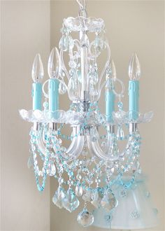 turquoise chandelier