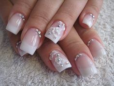 nail art designs with diamonds for summer