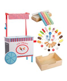 Ice Cream Cart Play Set #zulily #zulilyfinds