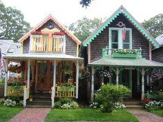 Gingerbread Cottages in Oak Bluffs, Martha's Vineyard