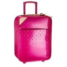 Pink Louis Vuitton Luggage- So So So GORGEOUS on me, perfect for transporting…