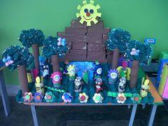Manualidades para niños con material reciclado: bosques, parques y granjas