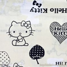 Cream & black Hello Kitty