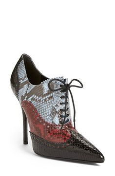 Gucci+'Gia'+Genuine+Python Pointy+Toe Bootie+(Women)+available+at+#Nordstrom