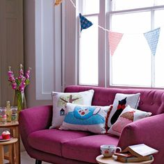 Quirky living room | Bunting - 10 ideas | Ideas Gallery | Style at Home | Housetohome