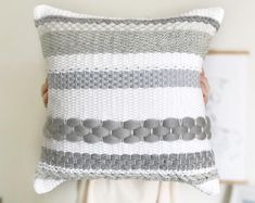 Items similar to Handwoven pillow / Pink gradient throw pillow / Luxury woven decorative pillow / Pink pillow / Scandinavian pillow / Accent nursery cushion on Etsy Weaving Loom Diy, Weaving Art, Weaving Patterns, Tapestry Weaving, Hand Weaving, Pink Pillows, Throw Pillows, Scandinavian Pillows, Cushion Embroidery