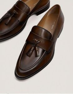 Brown Leather Loafers, Leather Loafer Shoes, Dark Brown Leather, Loafers Men, Soft Leather, Penny Loafers, Formal Loafers