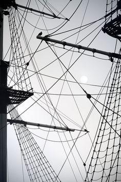 """Basics of Nautical Geometry"" - Black and white abstract art photography - St Petersburg by Elena Anufrieva #artprint #photography #bw #blackandwhite"