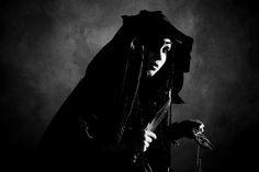 Crow Girl, Witch - monochrome by ian-x