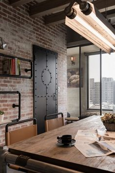 Vintage Industrial Home for a Couple and Their Three Cats in Taiwan - http://freshome.com/vintage-industrial-home-for-a-couple-and-their-three-cats-in-taiwan