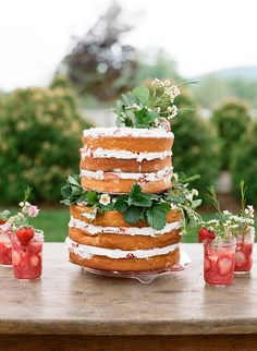 Southern Spring BBQ in Charlottesville, Virginia - We wanted to create a beautiful BBQ dinner that felt relaxed, but elegant. We are so grateful to St - Bbq Cake, Bbq Menu, Smoked Pulled Pork, I Do Bbq, Mini Pumpkins, Take The Cake, Bbq Party, Floral Cake, Strawberry Shortcake